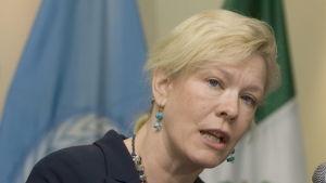En arkivbild på Sveriges förra Peking-ambassadör Anna Lindstedt. Bilden är tagen i mars 2010 då hon var Sveriges ambassadör i Mexiko.