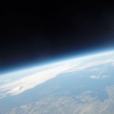 Österbottniska kusten på 33 km:s höjd.