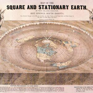 Plattjordares karta över den platta jorden.