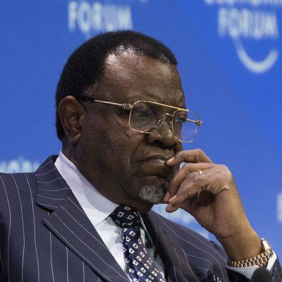 Namibian presidentti Hage Geingob.