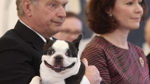 Presidentparet med hunden Lennu