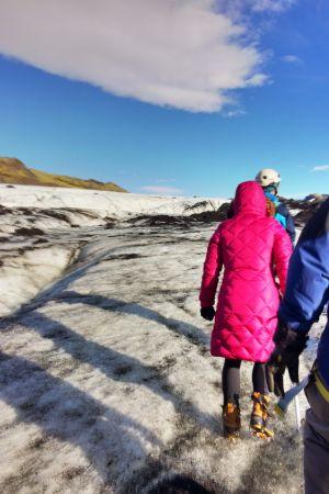 Vandring på glaciären Sólheimajökull