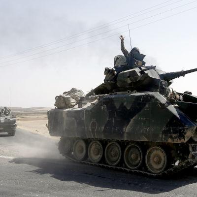 Turkiska styrkor har intagit ett över 90 kilometer långt gränsavsnitt i Syrien sedan den militära interventionen inleddes för drygt en vecka sedan