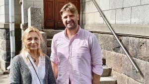 Dalia Urbanavičienė och Svenska Yles Gustaf Antell