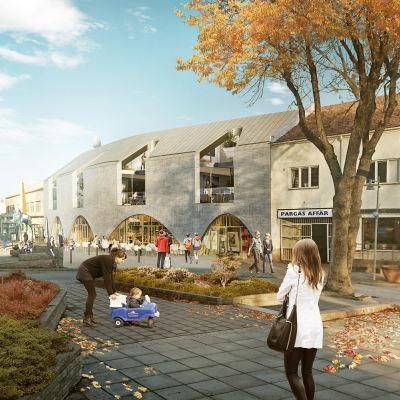 Skiss, Arthouse på Köpmansgatan.
