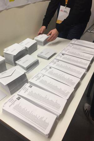 Röstsedlar i Barcelona.