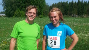 Stig Andersson och Sandra Sundvik vid West Coast Race den 7.6.2014