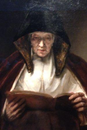 rijksmuseum, Rembrandts målning Läsande gammal kvinna