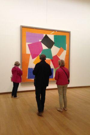 stedelijkmuseet, The Oasis of Matisse, målningen L'Escargot, 1953, publik