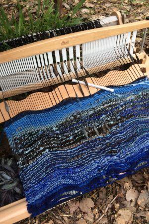 sininen projekti kangaspuilla