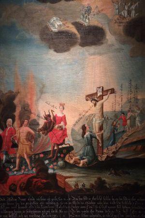 Okänd konstnär: Den breda och den smala vägen (Umeå 1740-50)