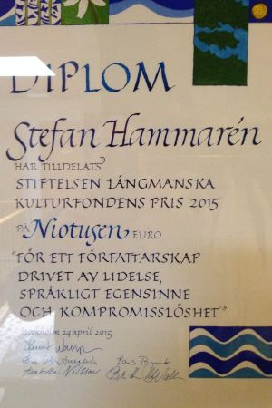 Längmanska kulturfondens pris 2015