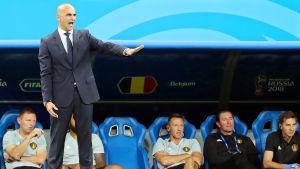 Roberto Martinez står vid bänken