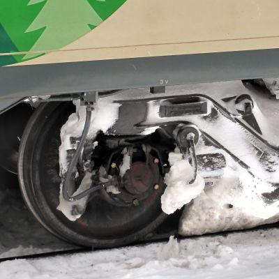 IC-vagn i vinterföre.