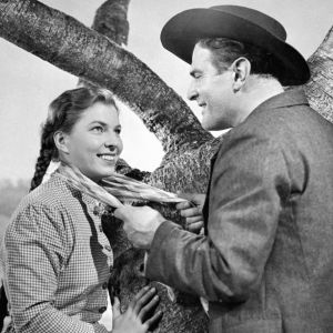 Rauni Ikäheimo ja Tauno Palo Tukkijoella-elokuvassa (1951)