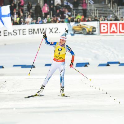 Kaisa Mäkäräinen Kontionlahdella 2018.