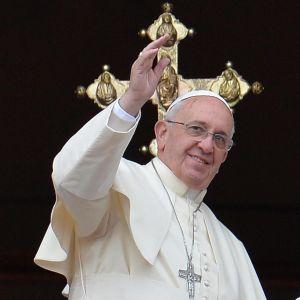 Påven förrättar Urbi et Orbi på juldagen 2013