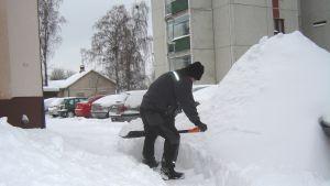 snöskottning, snöskottare, lars blomberg