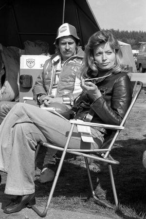 Jarno Saarinen och frun Soili, 1973.