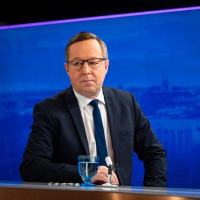 Elinkeinoministeri Mika Lintilä Ykkösaamun vieraana 9. lokakuuta.