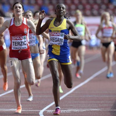 Abeba Aregawi springer för Sverige i EM.