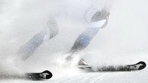 Alpin skidåkare.