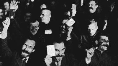 Boljevikernas partimöte 25.12.1927