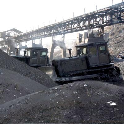 Arkivbild från den nordkoreanska kolgruvan Toksan i februari 2006.