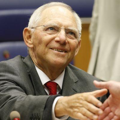 Wolfgang Schäuble osallistui viimeiseen euroryhmän kokoukseensa Luxemburgissa.