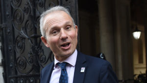 Arkivbild på David Lidington utanför Downing Street i november 2018.