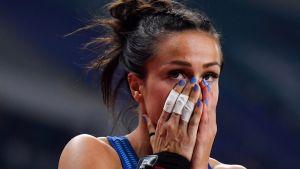 Maria Huntington under VM i friidrott 2019.