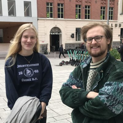 Isabella Hanén och Ville Wallgren.