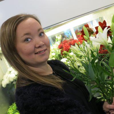Anni Ilvesluoto kukkakauppias Rovaniemi