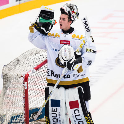 Joel Blomqvist i Kärpäts mål.