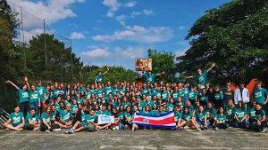 gruppbild på utbytesstuderande i Costa Rica