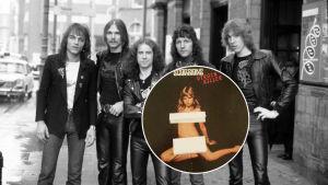Scorpions 1979 på gata samt Virgoin Killer-omslaget i en boll.