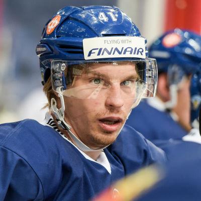 Antti Philström på Finska lejonens öppna träning i Helsingfors.