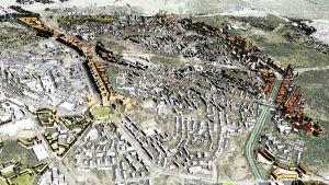Planerna för både Vichtisvägen och Tavastehusleden år 2050.