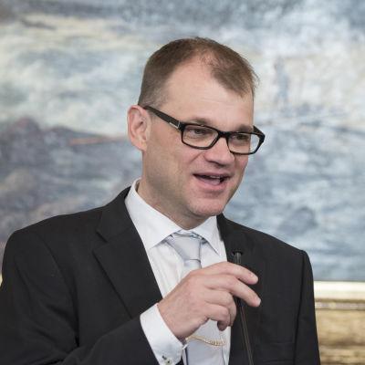 Juha Sipilä puhuu