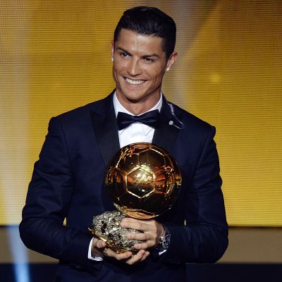 Cristiano Ronaldo palkittiin Kultaisella pallolla vuonna 2014.