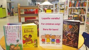 Barnböcker i Ahlberga bibliotek
