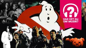 Musiktestet med Ghostbusters, Michael Jackson och Alice Cooper samt musiktestets logo
