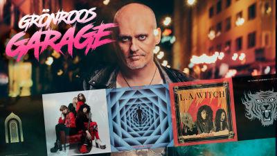 Grönroos garage kollage med Lasse, logo och fem konvolut.