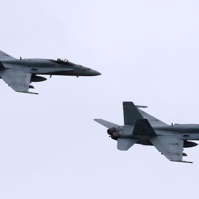 Dessa F-18 Hornetplan hör till dem som Kanada tar hem från Mellanöstern