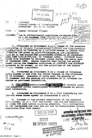 Dokument om utredningen av mordet på John F Kennedy.