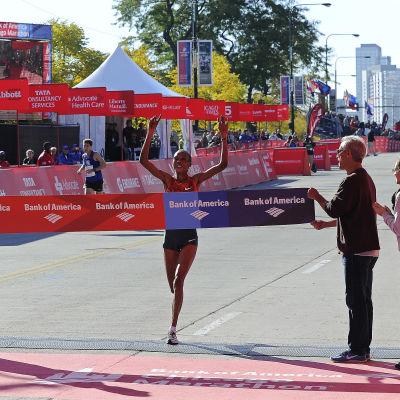 Rita Jepoo vann Chicago Maraton 2014