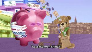 Skärmdump av Vänsterförbundets omtalade valvideo