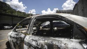 Greklands ambassadörs Kyriakos Amiridis utbrända bil hittades i Rio.