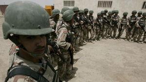 Amerikanerna använder Camp Taji som bas för antiterror operationer och för att utbilda irakiska soldater.