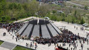 Monument i Jerevan till minne av folkmordet på armenierna 1915-1917.
